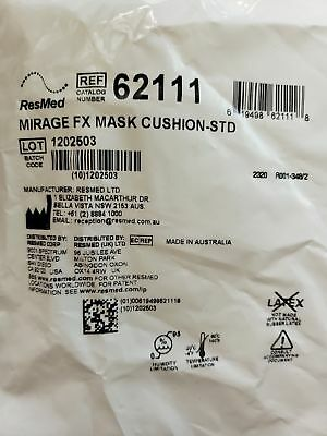 ResMed Mirage FX Mask Cushion #62111 Lot of 10  New Factory Sealed