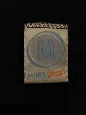 Moby Wrap Sling Baby Carrier One Size in Black 100% cotton