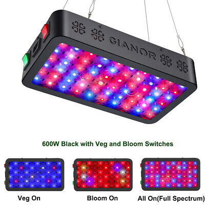 Gianor 600W Full Spectrum Hydro Led Grow Light Plant Lamp with VEG Bloom Switch