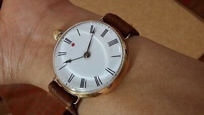 Vintage Driver's Watch - 18K Solid Gold Case Hardy Brother Sydney