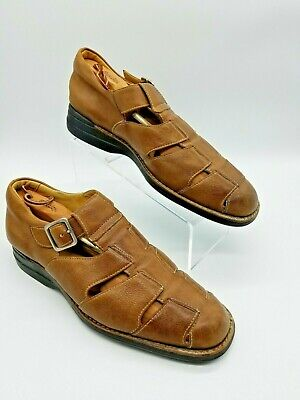 823910a69f8f JOHNSTON   MURPHY Men s Shoes - Brown Leather Dress Fisherman Sandals ...