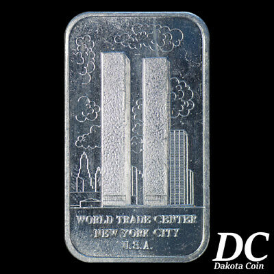 World Trade Center (Twin Towers) Fine Silver 1oz Art Bar Madison Mint NO RESERVE