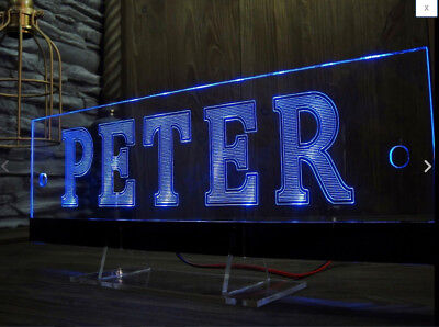 LED Cabin Interior Light Plate Truck Laser Engraved Your nam Table Sign VIDEO