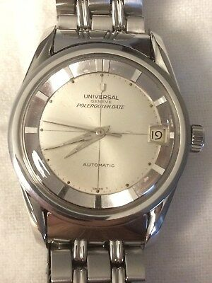 Vintage - 1960's Universal Genève Polerouter Date with Gay Freres - Automatic