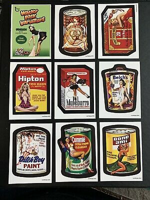 Lost Wacky Packages VARIATIONS 2nd Series COMPLETE Black LUDLOW SET + Wrappers