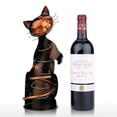 1PC Elegant Practical Metal Durable Cat Shaped Wine Rack for Decoration Home Bar