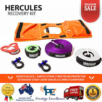 Hercules Essential Recovery Kit 4WD 7 Piece Heavy Duty Nylon Winch Dampener Bag
