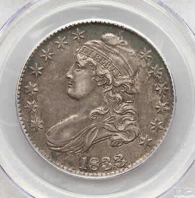 1833 Capped Bust PCGS AU50 Silver Half Dollar Nice Type Coin Overton About Unc