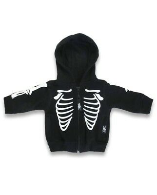 Six Bunnies Baby Skeleton Hoodie Brand new black and white 0-3 months