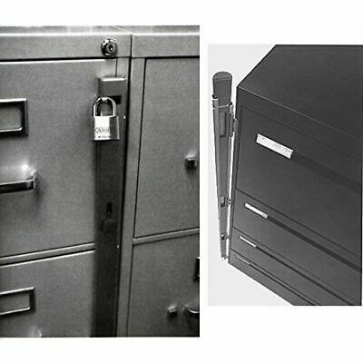Locking Bar for Use with 4 Drawer Filing Cabinet (cabinet & Padlock not inc.)