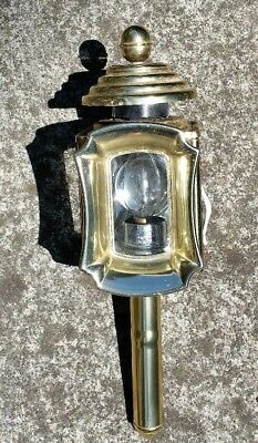ANTIQUE CARRIAGE LAMP light MADE IN ENGLAND wired for electricity entrance home