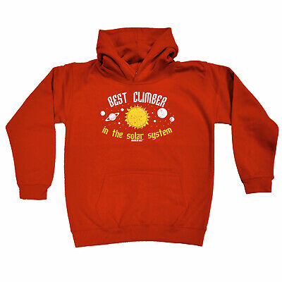 Rock Climbing Kids Childrens Hoodie Hoody Funny - Best Climber In The Solar Syst