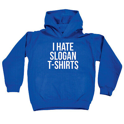 Funny Kids Childrens Hoodie Hoody - I Hate Slogan Tshirts
