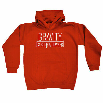 Rock Climbing Kids Childrens Hoodie Hoody Funny - Gravity Is Such A Downer Rock