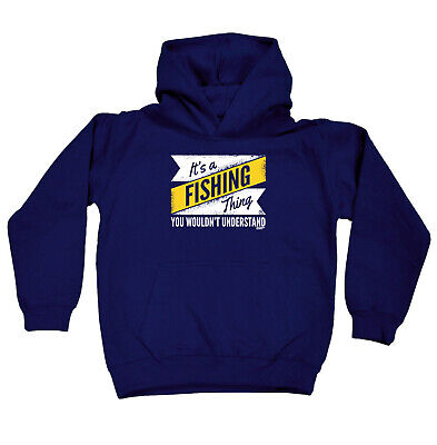 Fishing Kids Childrens Hoodie Hoody Funny - Its A Fishing Thing