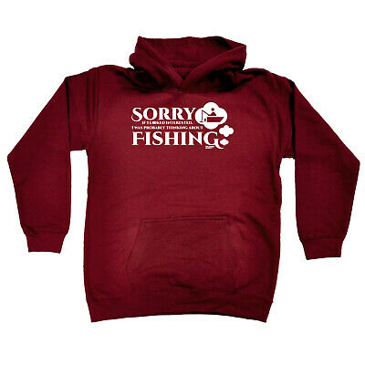 Fishing Kids Childrens Hoodie Hoody Funny - Sorry If I Looked Interested Fishing