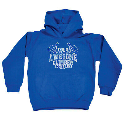 Rock Climbing Kids Childrens Hoodie Hoody Funny - This Is Awesome Climber Rock C