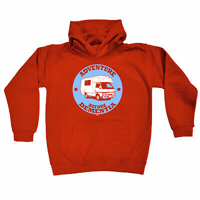 Funny Kids Childrens Hoodie Hoody - Camper Carvan Adventure Before Dementia