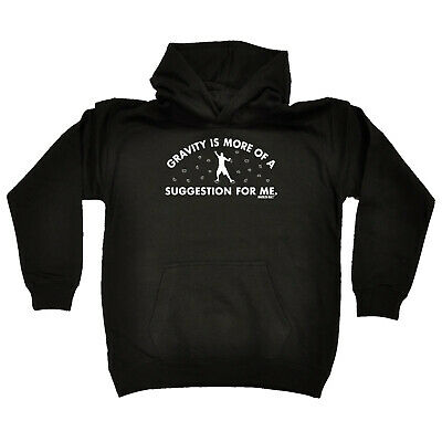 Rock Climbing Kids Childrens Hoodie Hoody Funny - Gravity Is More Of A Suggestio