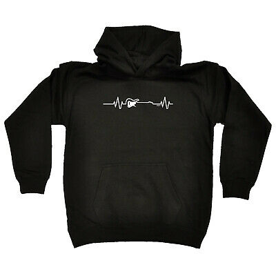 Funny Kids Childrens Hoodie Hoody - Electric Guitar Pulse