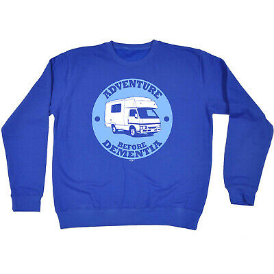 Funny Kids Childrens Sweatshirt Jumper - Camper Carvan Adventure Before Dementia
