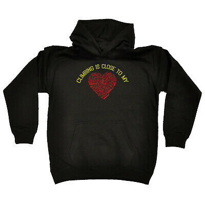 Rock Climbing Kids Childrens Hoodie Hoody Funny - Rock Climbing Is Close To My H