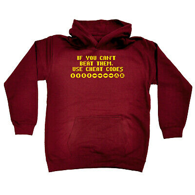Funny Kids Childrens Hoodie Hoody - If You Cant Beat Them Use Cheat Codes