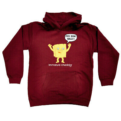 Funny Kids Childrens Hoodie Hoody - Immature Chedder