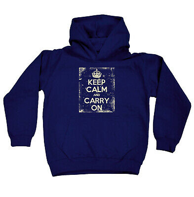 Funny Kids Childrens Hoodie Hoody - Keep Calm And Carry On Frame