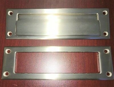Solid Brass Mail Box Plate - Satin Nickel Finish