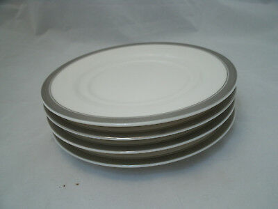 Epoch CENTURY PLATINUM 4 Replacement Tea Cup Saucers (only) #E207 Encrusted Band