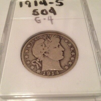 1914 S 50C Barber Silver Half Dollar Mintage 992,000 Only Key Date