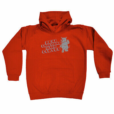 Funny Kids Childrens Hoodie Hoody - Real Unicorns Have Horns Rhino