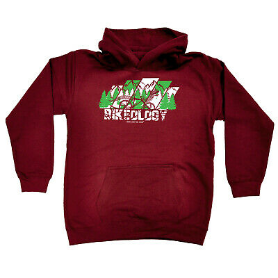 Cycling Kids Childrens Hoodie Hoody Funny - Cycling Bikeology