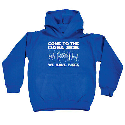 Cycling Kids Childrens Hoodie Hoody Funny - Cycling Come To The Dark Side Bikes