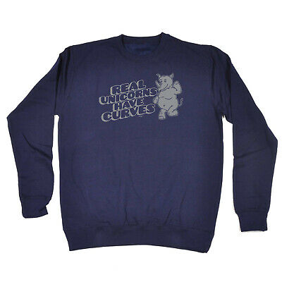 Funny Kids Childrens Sweatshirt Jumper - Real Unicorns Have Horns Rhino