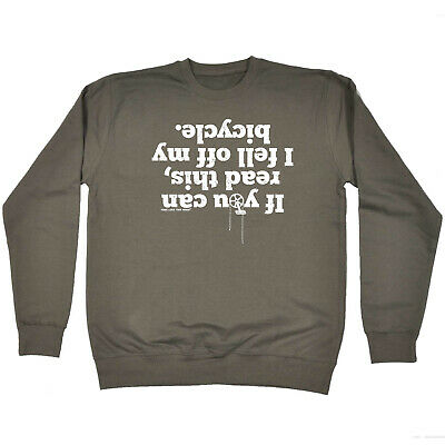 Cycling Childrens Sweatshirt Funny Jumper - Cycling If You Can Read This Bicyc