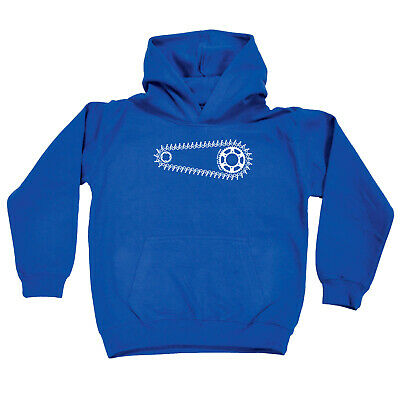Cycling Kids Childrens Hoodie Hoody Funny - Cycling Bike Chain Gang