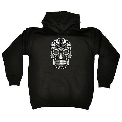 Cycling Kids Childrens Hoodie Hoody Funny - Cycling Candy Skull Bike Parts