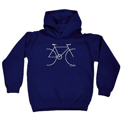 Cycling Kids Childrens Hoodie Hoody Funny - Cycling Bike Simple