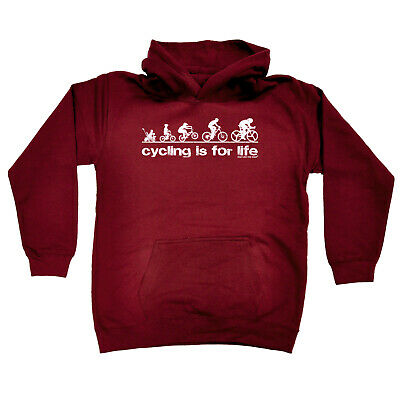 Cycling Kids Childrens Hoodie Hoody Funny - Cycling Cycling Is For Life