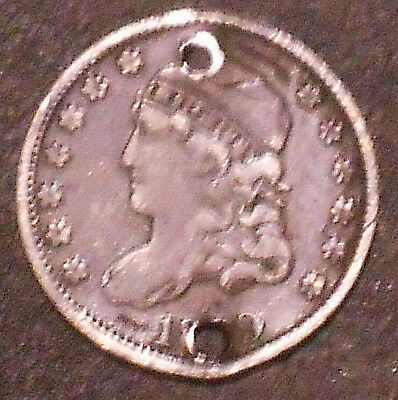 1829-P Capped Bust Silver Half Dime.  Free Shipping!!!!!!!!!!!!!!!!!