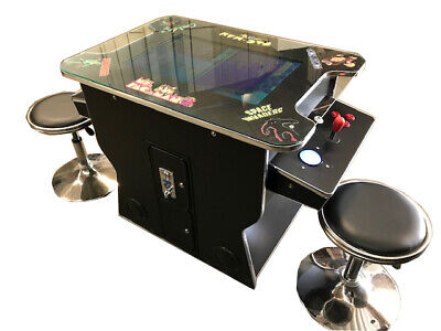 Cocktail Arcade with 412 game in 1-TRACK BALL  -Free  Shipping -Free Stools