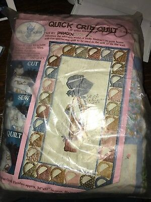 Vintage Quick Crib Quilt Holly Hobbie In Pack Unsewn