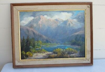 Impressionist California Plein Air Painting Oil On Canvas Board Signed #1