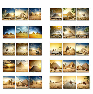 Large Wall Art Egyptian pyramid camel Landscape Painting Printed on Canvas Decor