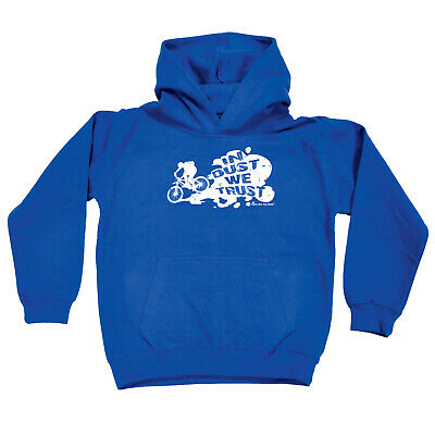 Cycling Kids Childrens Hoodie Hoody Funny - Cycling In Dust We Trust