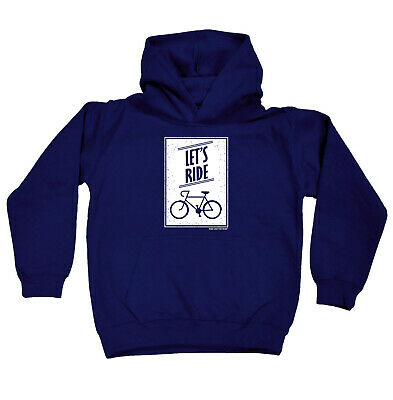 Cycling Kids Childrens Hoodie Hoody Funny - Cycling Lets Ride