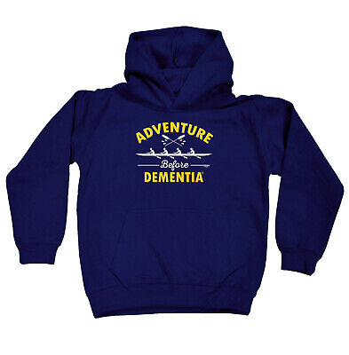 Funny Kids Childrens Hoodie Hoody - Rowing Adventure Before Dementia