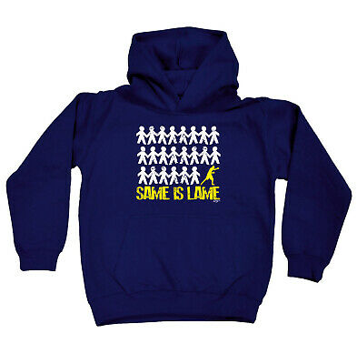 Funny Kids Childrens Hoodie Hoody - Same Is Lame Boxer